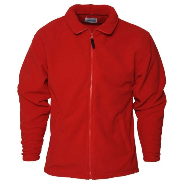 GENERIC Absolute Apparel - Polaire zippée Heritage - Homme M, Rouge Utab128
