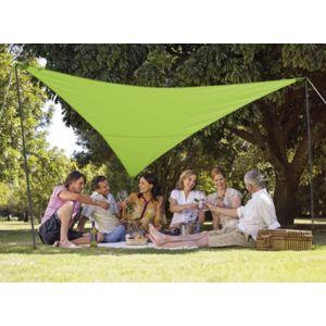 jardideco kit voile d 39 ombrage triangulaire 3 60 x 3 60 m vert pomme pas cher achat vente. Black Bedroom Furniture Sets. Home Design Ideas