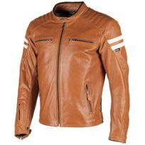 Segura - blouson moto Retro cuir homme Vintage toutes saisons camel Scb895 4XL