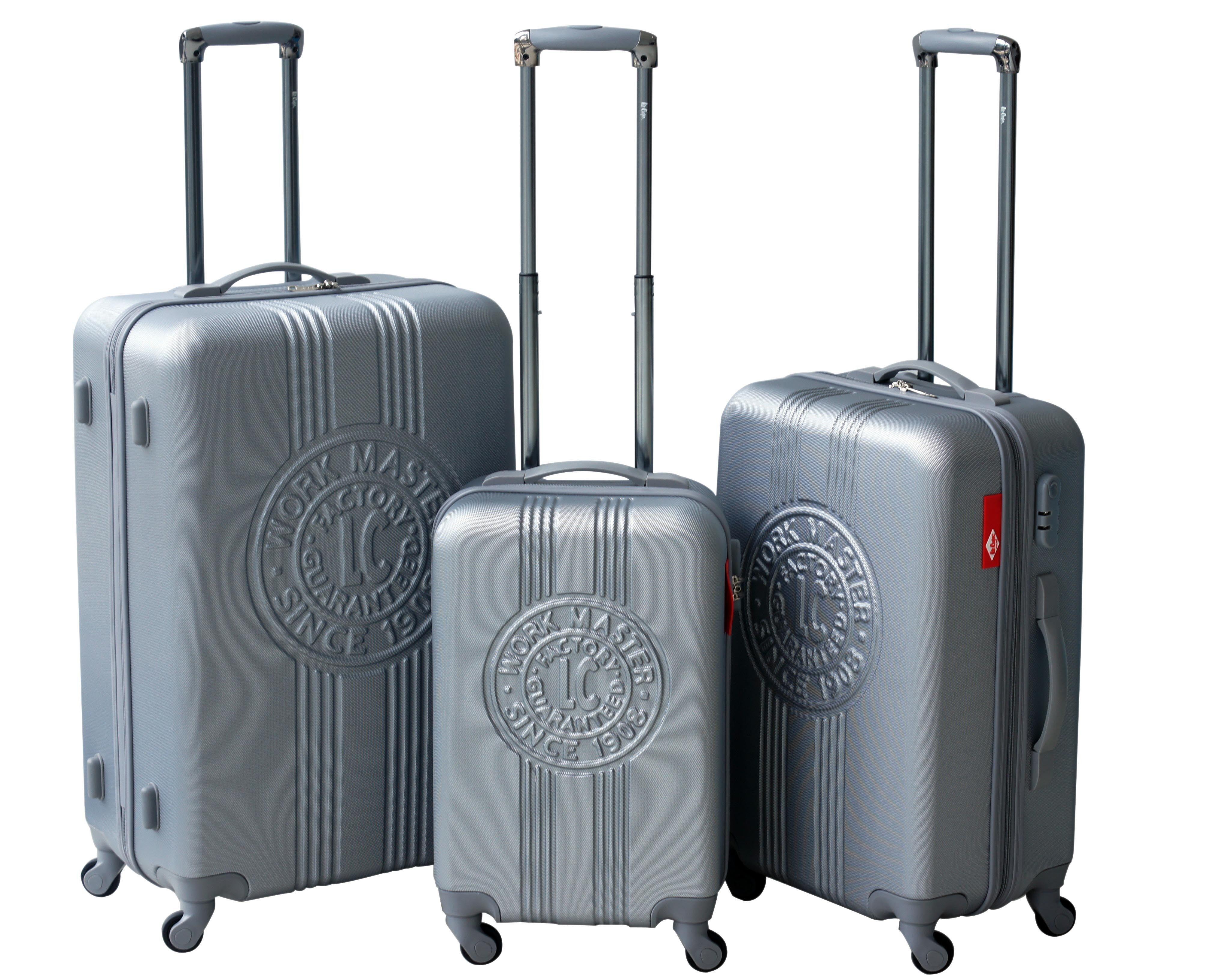 Set de 3 valises rigides PATCH - ABS - Argent