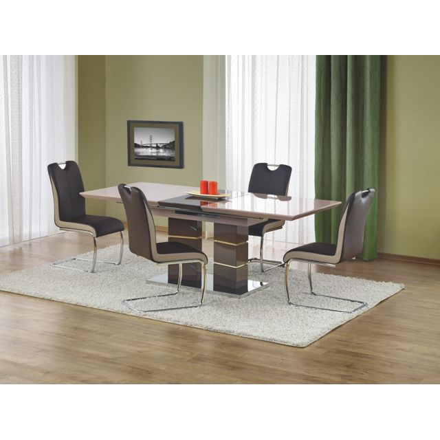 Carellia Table à manger extensible 160÷200 cm x 90 cm x 75 cm
