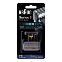 BRAUN - couteau et grille de rasoir pour série 3 - 81387940