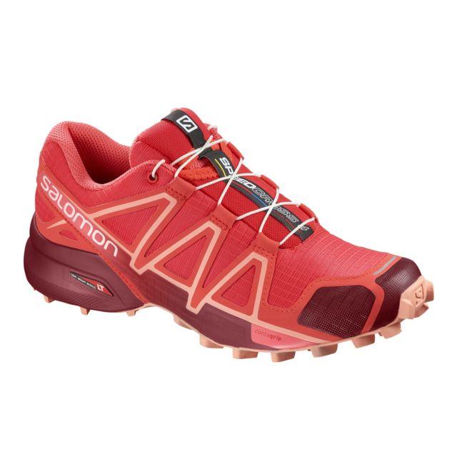 Femme Chaussures Speedcross Dalhia Salomon 4 Trail Pas Rouge qx41AAaY
