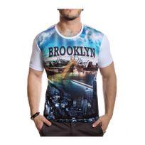 Rerock - T-shirt Nation Mind blanc imprimé