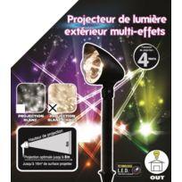 No Name - Projecteur Led Noël multi effets – Blanc chaud - En mouvement - Extérieur ou intérieur
