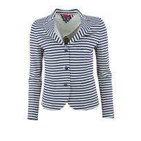 Tommy Hilfiger - Blazer rayé en coton Tonna bleu marine et blanc pour femme
