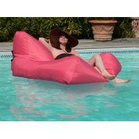 Sit in pool - Pouf de jardin en polyester à mémoire de forme imperméable système