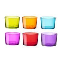 Bormioli Rocco - Verrine en verre 20 cl multicolore - Lot de 6 pièces Bodega