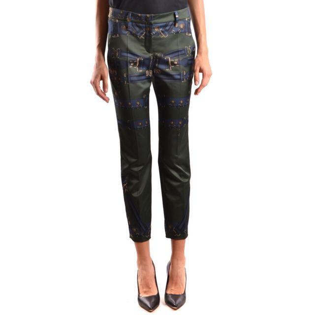 Versus By Versace Versus Versace Femme Bd40469BT10765B7566 Vert Polyester Pantalon