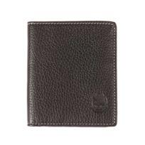 L'AIGLON - Porte-cartes européen en cuir de veau foulonné noir