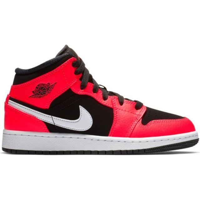 3cd83997a0a6 Jordan - Chaussures de Basket Air Jordan 1 Mid Bg Orange pour junior  Pointure - 38