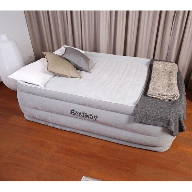 Bestway matelas gonflable avec gonfleur int gr confort cell 2places nightrest - Matelas gonflable duvet integre ...