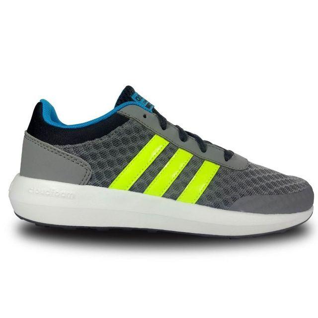 884a53f0a9967 Adidas - Chaussure enfant cloudfoam race - pas cher Achat   Vente Baskets  enfant - RueDuCommerce
