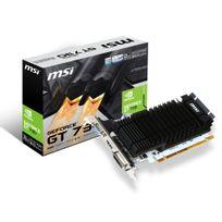 MSI - Carte graphique GeForce GT 730 2Go version low profile et fanless