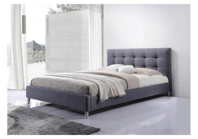 declikdeco lit gris 160 en tissu avec tte de lit capitonne eva 160cm x 200cm pas cher achat vente ensembles de literie rueducommerce - Lit Avec Tete De Lit