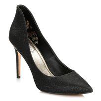 Ted Baker - Womens Black Sparkle Textile Saviy Court Shoes-UK 5