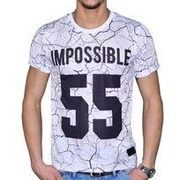 Celebrytees - Celebry Tees - T Shirt Manches Courtes - Homme - Crack - Blanc