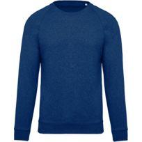 Kariban - Sweat shirt coton bio - Homme - K480 - bleu océan chiné 63d7abdd545f