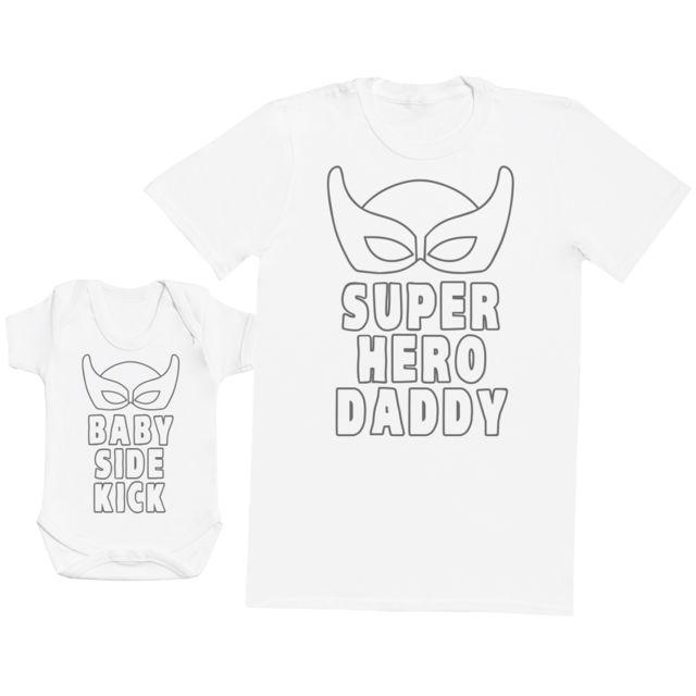 Ensemble P/ère B/éb/é Cadeau Zarlivia Clothing Baby /& Dad Fist Punch Hommes T-Shirt /& Body b/éb/é