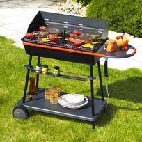 Somagic - Barbecue charbon bois Qooka A700 en acier 106.5x46.5 cm