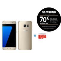 Samsung - Galaxy S7 - Or + Micro SDHC EVO Plus 32 Go + Adaptateur SD