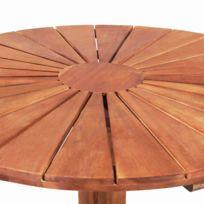 Table jardin bois ronde - catalogue 2019/2020 - [RueDuCommerce]