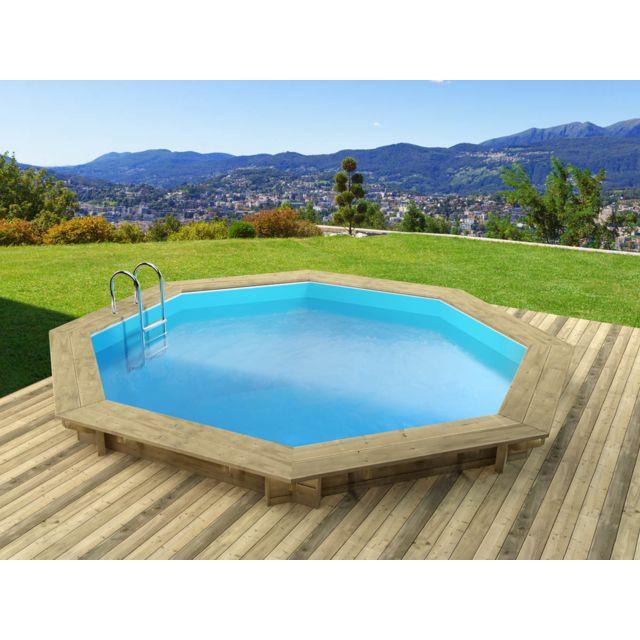 Habitat et jardin piscine bois verona x m - Habitat et jardin piscine bois ...