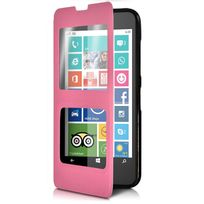 Housse Coque Etui S-view Fonction Support Couleur Rose pour Nokia Lumia 635 cdebe83222f