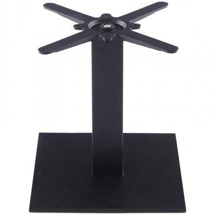 TECHNEB Pied de table BIZ carré en métal 39cmX39cmX44cm, noir