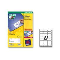 Avery - Boîte d'étiquettes enlevables laser 63,5x29,6 mm 675 étiq/boîte