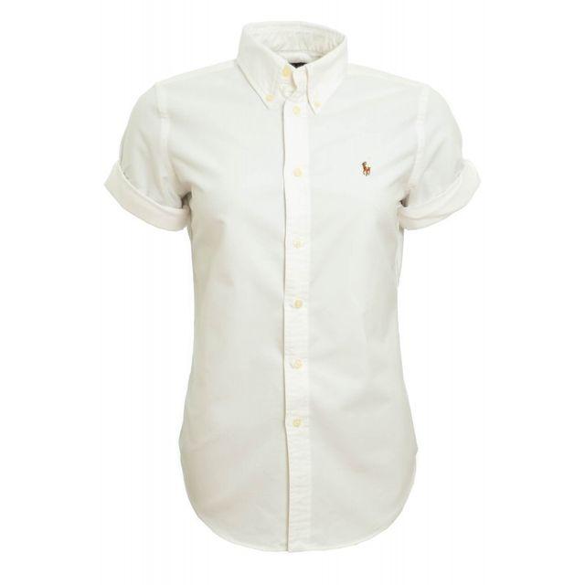 5dd8b5a9472f Ralph Lauren - Chemise blanche manches courtes Jenny pour femme ...