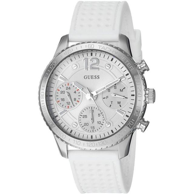 53e6ce87c169 Guess - Montre Femme U1025L1 Bracelet Silicone Blanc Achat   Vente ...