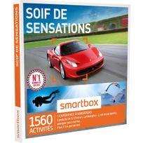 Smartbox - Soif de sensations - 1560 activités : conduite de Gt Ferrari, Lamborghini vol en Ulm, saut à l'élastique - Coffret Cadeau