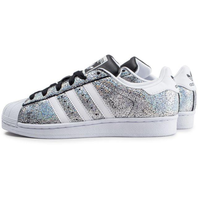 Adidas originals - Superstar Holographique Argenté Et ...