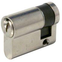 Tesa Securite France - Cylindre De Serrure Te.5 Numero Stock 1 56698A - Coloris Nickele - Type:1/2 cyl Dim. mm:10 x 30