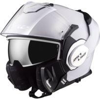 Ls2 - casque intégral modulable en jet Ff399 Valiant moto scooter blanc brillant