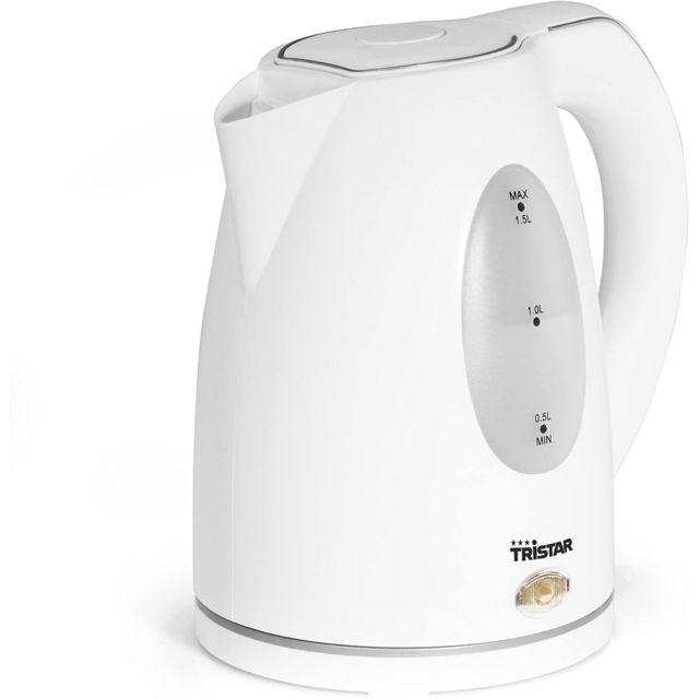 Tristar bouilloire électrique de 1,5L sans fil 2000W blanc