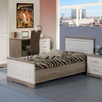 cadre lit 90x190 achat cadre lit 90x190 pas cher rue du commerce. Black Bedroom Furniture Sets. Home Design Ideas