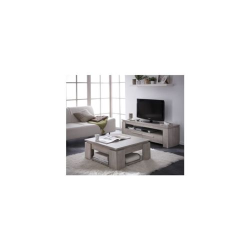 rocambolesk table basse segur banc tv 140cm segur coloris ch ne champagne bois pas cher. Black Bedroom Furniture Sets. Home Design Ideas