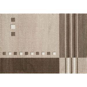 paris prix tapis rectangulaire mood line 160x230cm beige pas cher achat vente tapis. Black Bedroom Furniture Sets. Home Design Ideas