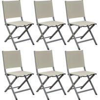 Chaises pliantes en aluminium Thema Lot de 6