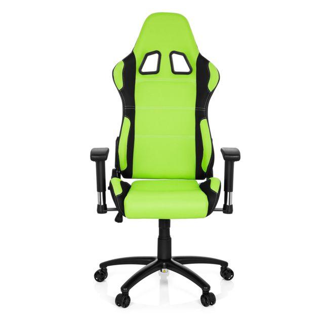 design de qualité 151c0 0df24 Chaise gaming / fauteuil gamer GAME FORCE tissu noir / vert