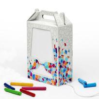 DesignCode - Flamp Gaudi - Lampe à poser Blanc à colorier H35cm - Lampe à poser designé par Hiroshi Tsunoda
