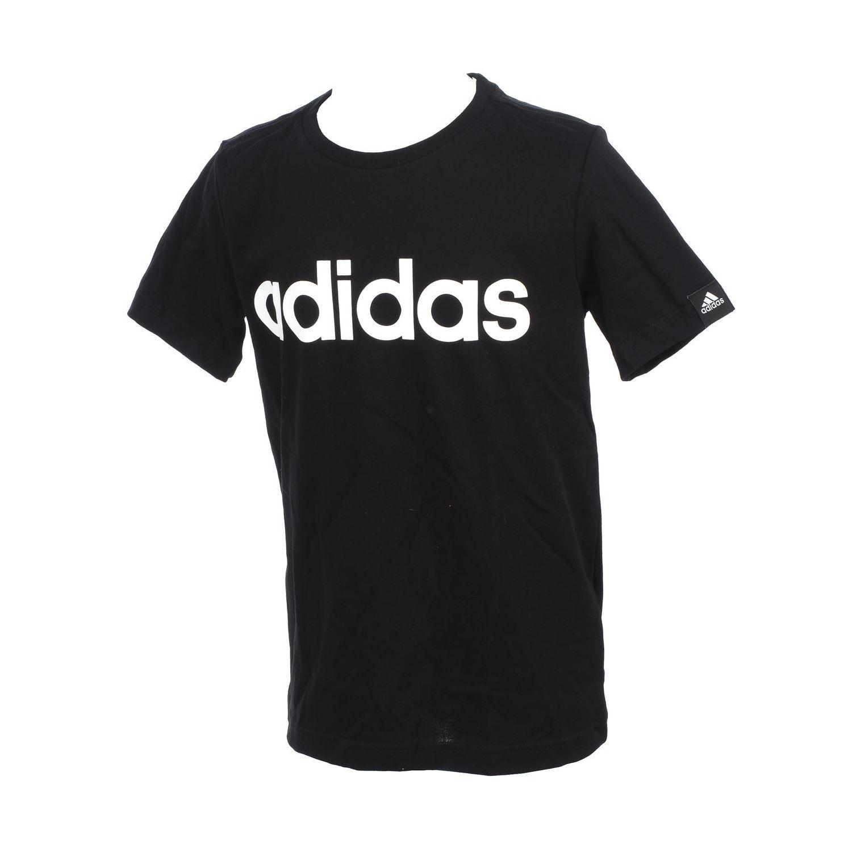 ADIDAS- Tee shirt manches courtes Ess lin tee mc noir jr Noir 78155 - 7