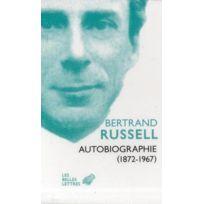 Belles Lettres - autobiographie 1872-1967