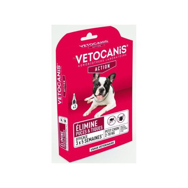 Vetocanis Pipettes Spot on Fipronil, Anti-Puces et Anti-Tiques - Pour petit chien
