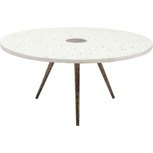 Karedesign Table basse Terrazzo blanche 92cm Kare Design