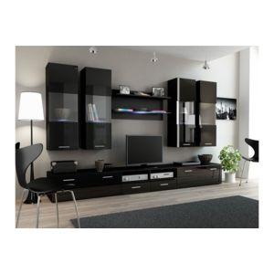 chloe design ensemble meubles tv design sirus 1 noir pas cher achat vente meubles tv hi. Black Bedroom Furniture Sets. Home Design Ideas