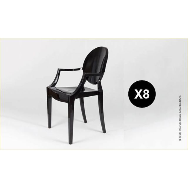House and Garden - Fauteuil Design Noir Style Louis Xvi - Ghost Lot ...