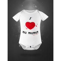 Autre - Body pour bébé en coton bio - j'aime ma maman naissance